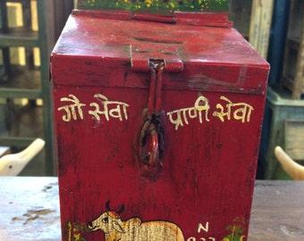 Antique Cow Donation Box (Indian)