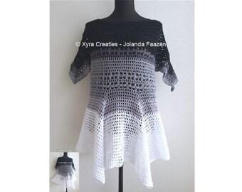 PATR1074 - Xyra Crochet-pattern - Summer shirt / tunic (English-US & Dutch)