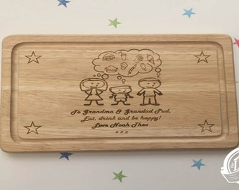 Me and My Family Personalised Chopping board Makes an Ideal Gift For Any Occasion