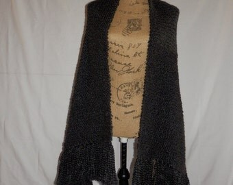 Black Knit Shawl/Prayer Shawl