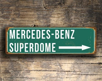 MERCEDES-BENZ Superdome Stadium Sign, New Orleans Saints, Football Gifts, Saints, Football signs,New Orleans Saints Decal, Signs
