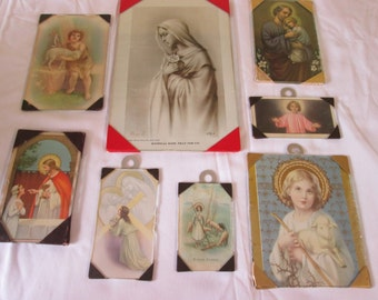 Vintage 8 religious frames / 8 Vintage religious Frames