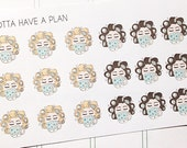 Coffee Girl Planner Stickers for Erin Condren, Happy Planner, Filofax, Scrapbooking