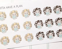 Hand Drawn Coffee Girl Planner Stickers for Erin Condren, Happy Planner, Filofax, Scrapbooking