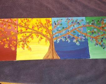 seasons tree painting