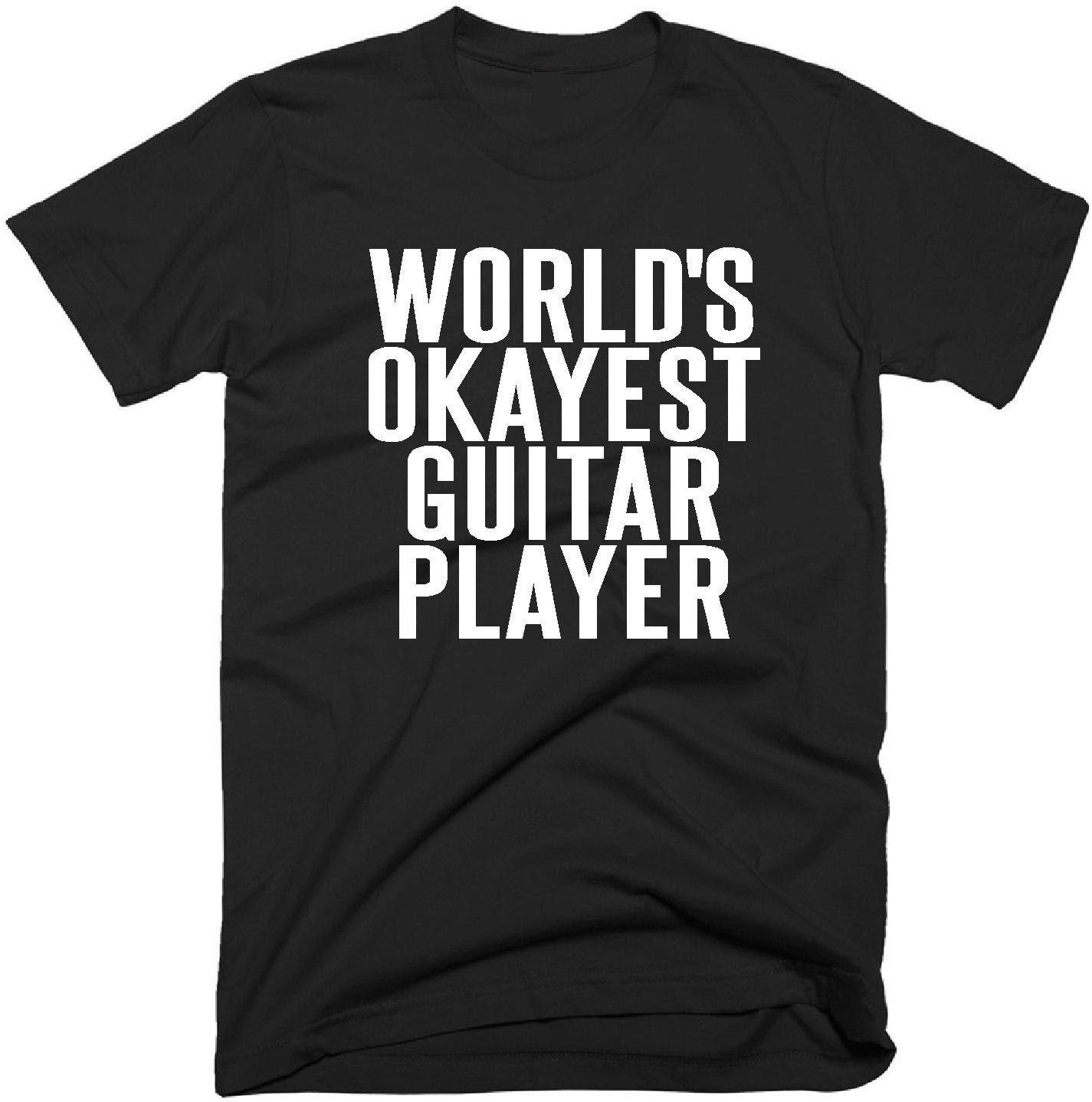 worlds okayest guitar player t shirt guitarist gift music. Black Bedroom Furniture Sets. Home Design Ideas