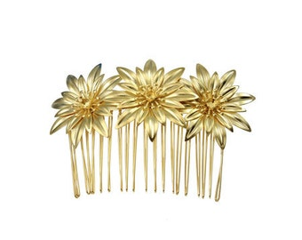 24ss/5 mm Rivoli with flowers element hair comb