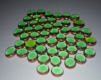 50 - Light Green Copper Foil Gems, mosaics, Glass, Stained Glass, Crafting