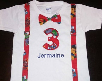 Paw Patrol personalized birthday outfit.