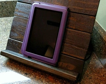 Tablet or iPad Holder made from Reclaimed & Repurposed Pallet Wood