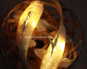 Shining fish loofah lamp