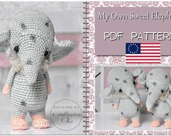 crochet pattern - My Own Elephant - Amigurumi english PDF crochet pattern