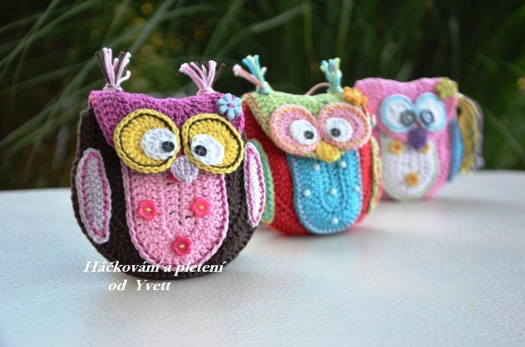 PATTERN Owl purse crochet pattern handbag PDF