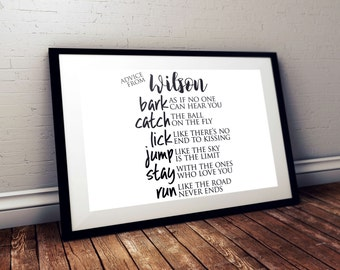 Advice from your Dog Customizable Print | printable, family room, wall art, engineering print