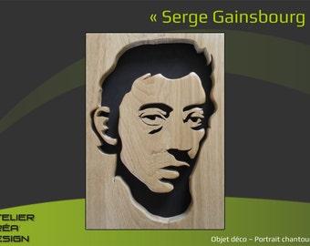 "Portrait fretwork ""Serge Gainsbourg"""