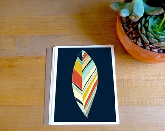 Fine Art Card - Feather Print