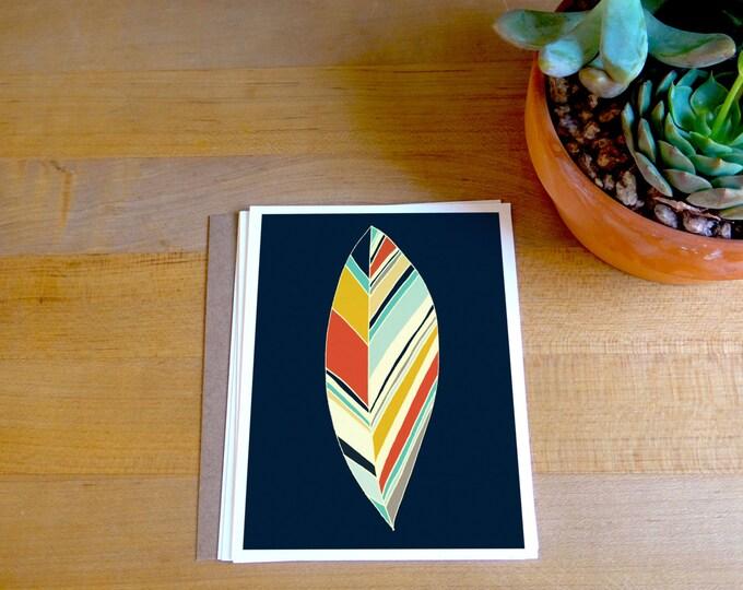 Fine Art Card - Feather Print