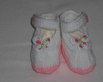 Shoes - baby shoes - wool shoes - baby shoes - push - booties - first shoes - newborn - handmade