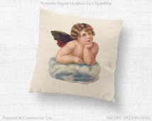 CHRISTMAS ANGEL Transfer Image Commercial Use Clipart Angel Fabric Transfer Cherub Clipart Angel Iron On Transfer Vector Graphic Jpg/Png/Svg