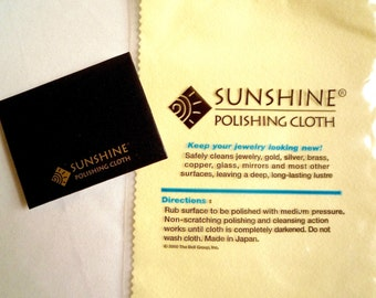 Sunshine polishing cloth, Jewelry cleaning cloth, Large or small cloth, Shipping included for the US customers, Silver and brass polisher