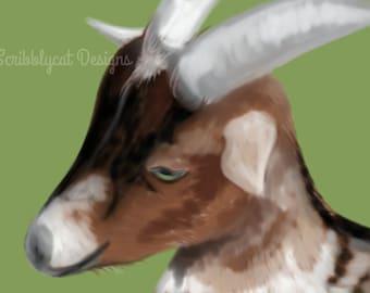 Goat original Decor Art Print