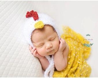 Newborn Crochet Chicken Hat Pattern : Crochet chicken Etsy
