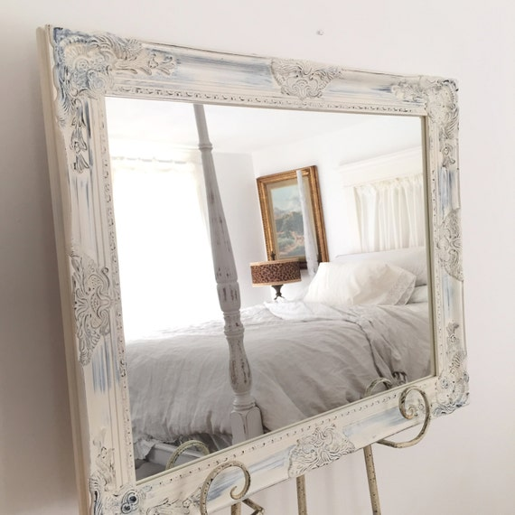 shabby chic mirror bathroom mirror large wood vanity mirror 20338