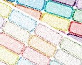 Glitter Third Boxes - Planner Stickers (SKU057)
