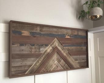 Reclaimed Wood Art, Wood Art, Salvaged wood, Wood wall Art, Modern Wood Wall Art, Rustic Modern, SINGLETON
