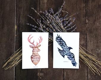 Animal Silhouettes | Christian Inspirational Postcards