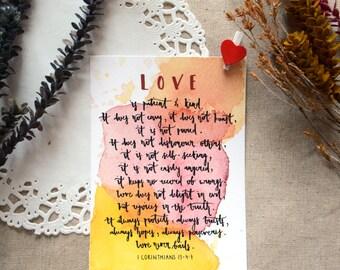 CORINTHIANS - Christian Inspirational Postcard