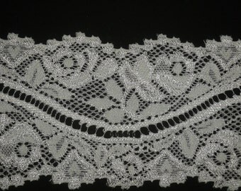 "2.5"" White Stretch Lace"