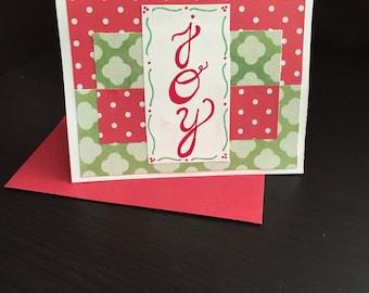"""Christmas Card : """"joy"""""""