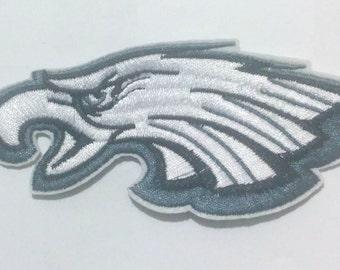 """Philadelphia Eagles Logo Iron On Patch 4"""" x 1 1/4"""" Football Logo Sewn On or Iron On Free Shipping"""