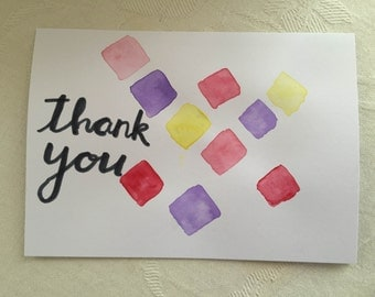 """Thank You A6 Greeting Card 6""""x4"""""""