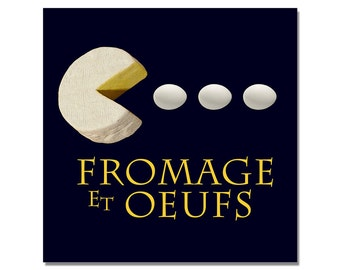 Pop art, French Cheese & Eggs print