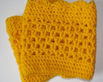 Boot cuffs - Yellow