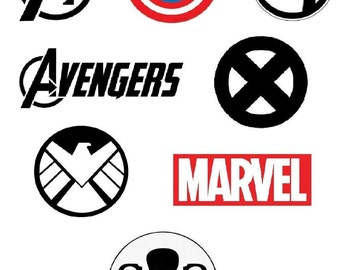 Marvel Logos Cross Stitch Pattern