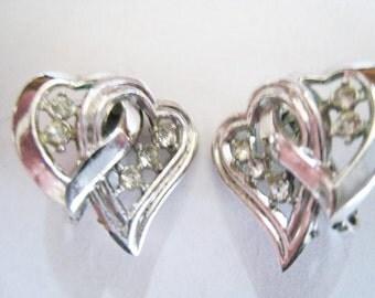 Trifari Silver Tone Clip Earrings
