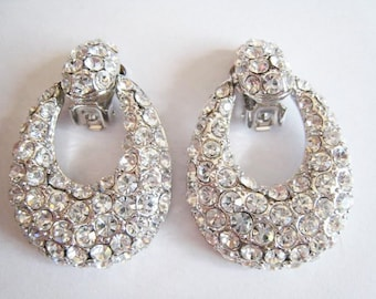 Rhinestone Clip Earrings 1993