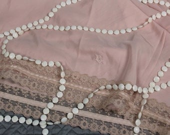 Christian Dior Vintage Pink Half Slip Dress Lace 1950s 1960s