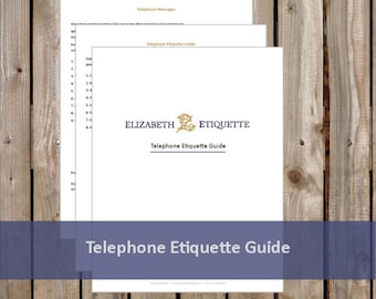 Telephone Etiquette Guide - Printable PDF (INSTANT DOWNLOAD - 3 Pages)