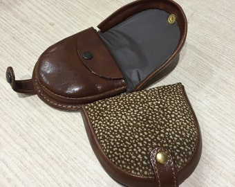 Coin purses, leather Heel, tapir real leather handmade in Italy, GIFT IDEA