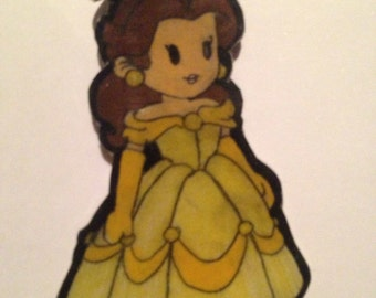 Beauty and the beast Belle keychain phone charm