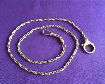"""18"""" Watch Chain - Sterling Lobster Clasp - CA 1940's"""