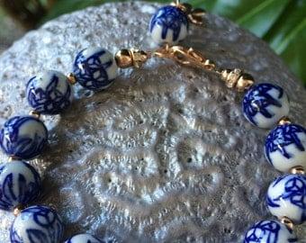 Delft blue bracelet