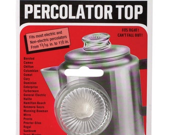 Glass Percolator Top fits 13/16 to 1 1/2 Inches