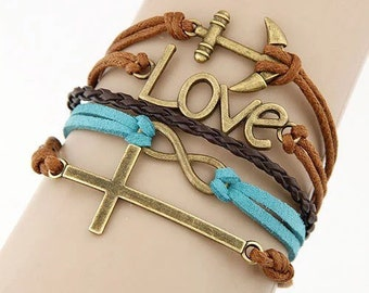 Love cross bracelet