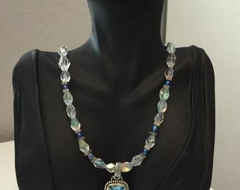 Aqua Pendant Necklace