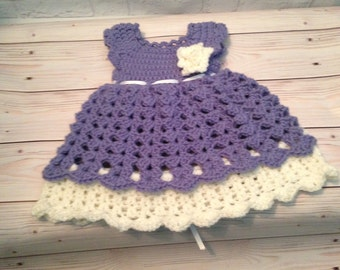 Crochet Baby Dress -  Crochet Clothes for Newborn - Crochet Dress -  Newborn Dress - Baby Gift - Infant Clothes - Baby Shower Gift